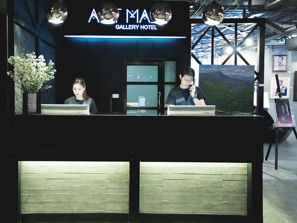 Art Mai Gallery Nimman Hotel Reception Counter